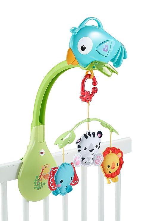 Fisher-Price Móvil musical 3 en 1, juguete de cuna con música para ...
