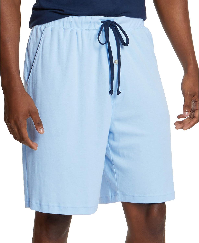 Nautica Men's Soft Knit 100% Cotton Elastic Waistband Sleep Lounge Short
