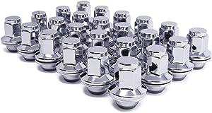 "Mastiff 17240 Lug Nut Set, M14x1.5 Thread, Triple-Chrome Finish, Mag Seat - 1.81""(46mm) Height - 1.7""(43mm) Inner Height - 1.38"" (35.2mm) Width - 7/8 Hex (Pk of 24)"