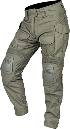 IDOGEAR G3 Army Combat Pants Knee Pads Multicam/Black Pro Camo Rip-Stop Tactical Trousers