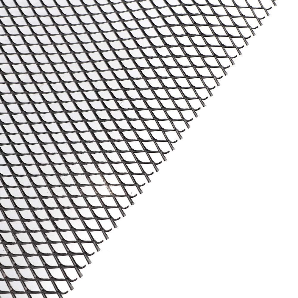 nero 8mm griglia auto In lega di alluminio 4 universale rete a rete auto griglia paraurti griglia rombo Qii lu 1