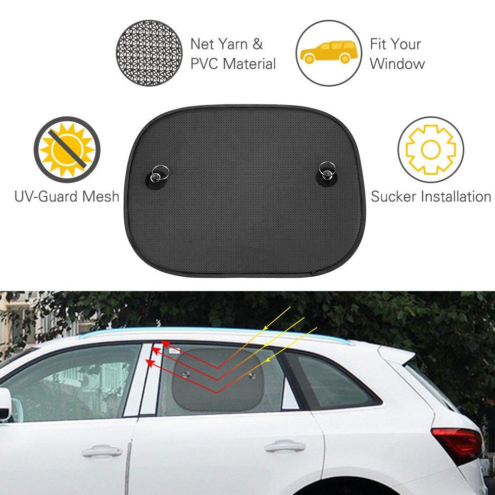 Protection for Baby,Kids Car Sun Shade Baby,Topist 2 Pcs Car Window Sun Shades Pets-44cm*36cm Universal Baby Car Sunshades Blocks Harmful UV Rays Sun Glare Heat