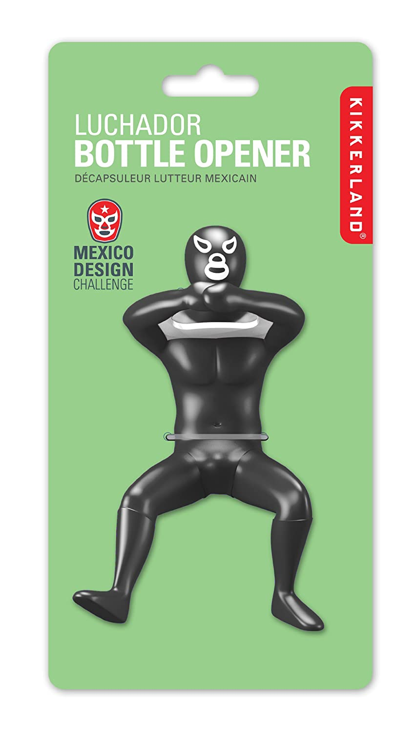 amazoncom kikkerland luchador bottle opener assorted colors and  - amazoncom kikkerland luchador bottle opener assorted colors and styleskitchen  dining
