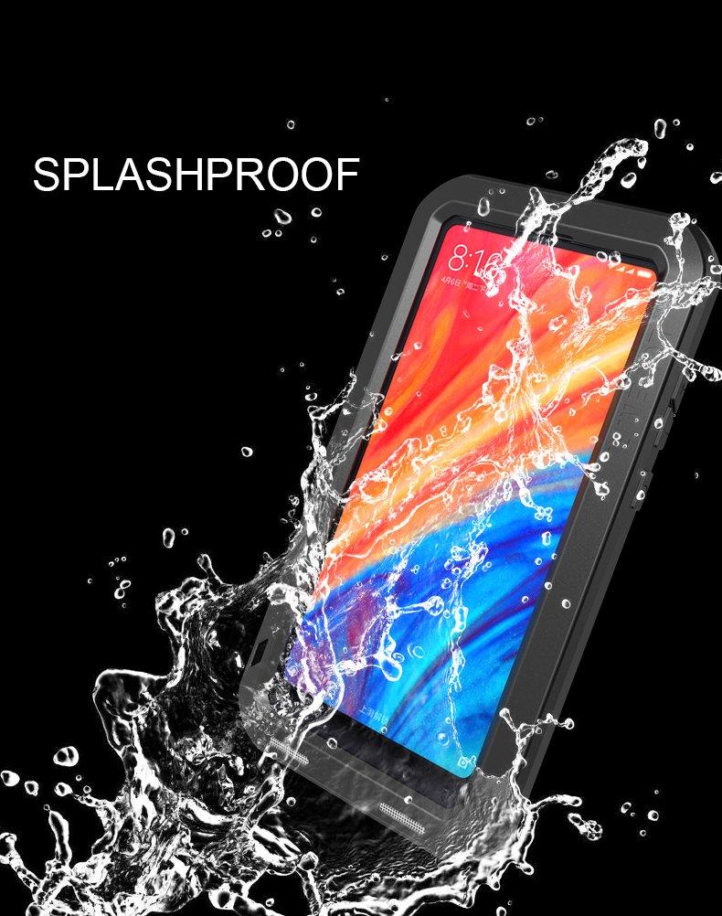 Love Mei Aluminum Metal Case For Xiaomi Mi Mix 2s Mix2s Powerful Bumper Note 2 Original 100 Cover Armor Shockproof Life Waterproof Black