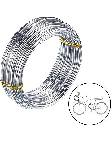 3mm Alambre de Aluminio Manualidades para Joyeria Fabricacion de Artesania Rebordear Floral-10 Metros (