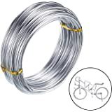 3mm Aluminium Wire 10m Bendy Craft Silver Wire for Jewellery Making, Clay Modelling Bonsai and Model