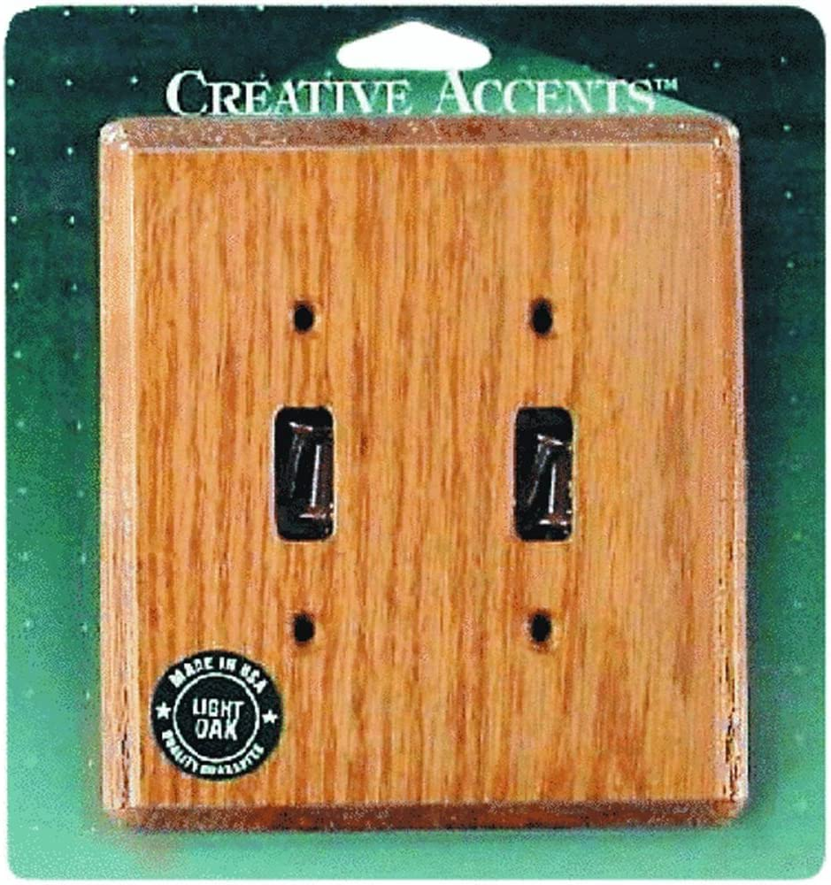 Jackson Deerfield 902l Oak Double Toggle Wall Plate Switch And Outlet Plates