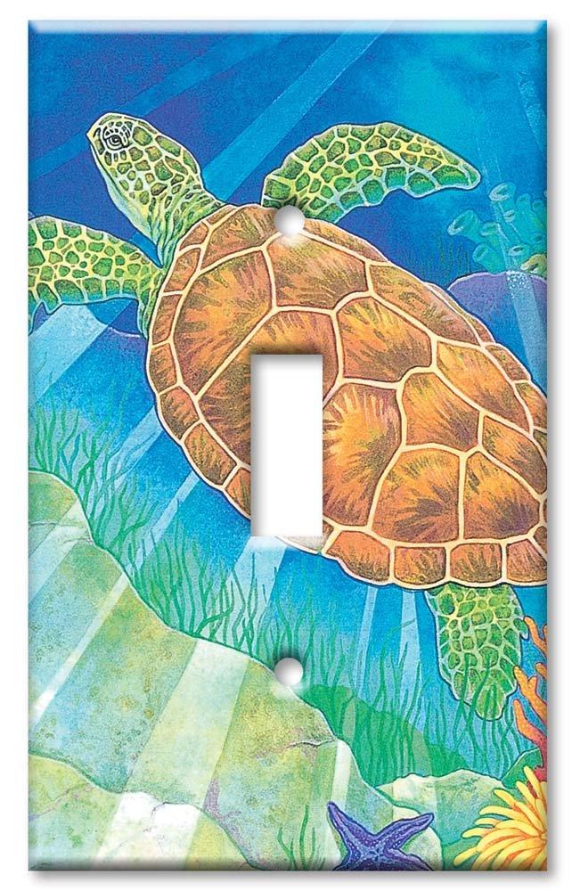 アートプレート® – 特大スイッチプレート – Sea 109-S-oversize Turtle – マルチカラー – 109-S-oversize B00TO3AHNE トグル1個(Single Toggle), 根占町:25a40333 --- gamenavi.club