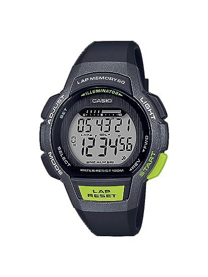 CASIO Reloj Digital para Mujer de Cuarzo con Correa en Resina LWS-1000H-1AVEF: Amazon.es: Relojes