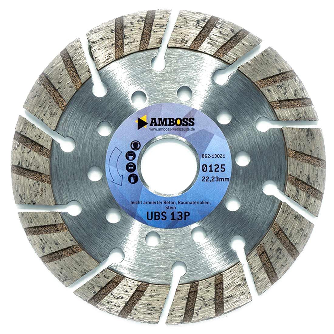 /Diam/ètre /& al/ésage au choix/ /Disque diamant/ enclume UBS 13P Premium/ /Hauteur de segment: 15/mm /L/éger armierter b/éton//Chantier mat/ériaux//pierre/