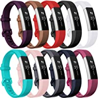 HUMENN Bracelet pour Fitbit Alta/Fitbit Alta HR/Fitbit Alta Ace, Bracelet de Remplacment en TPU Silicone Réglable Sport Accessoire pour Fitbit Alta
