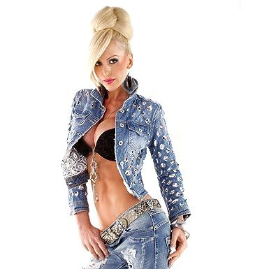 Figurbetonte jeans jacke damen
