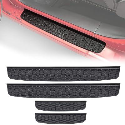 Danti Black Door Sill Guards Compatible for 2020 Jeep Wrangler JL Door Entry Guard Plate Protectors Cover Replace OE 82215394 (4-door): Automotive [5Bkhe0404918]