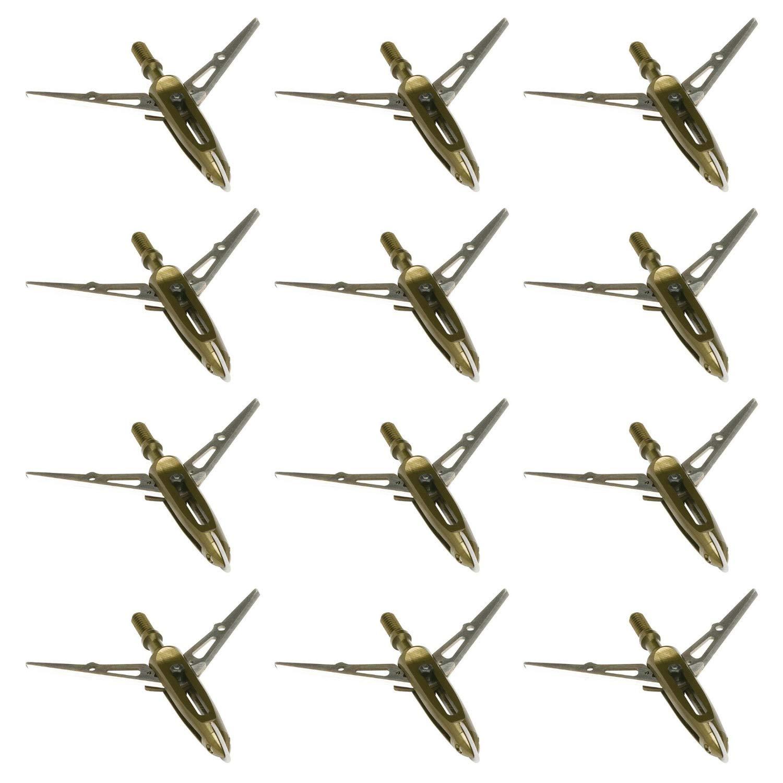 NAP Killzone Maxx Mechanical Bow Hunting Broadheads, 100 Grain, Two Blade, 2-3/8'' Cutting Diameter, 12-Pack