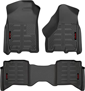 Gator 79711 Black Front and 2nd Seat Floor Liners Fits 2019 Ram 1500 Crew Cab