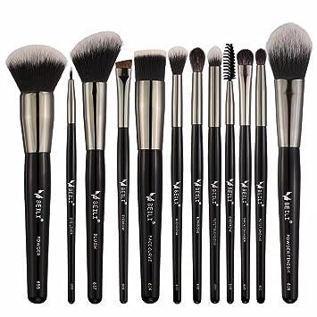 Amazon Com Beili Makeup Brushes 12 Piece Natural Goat Hair