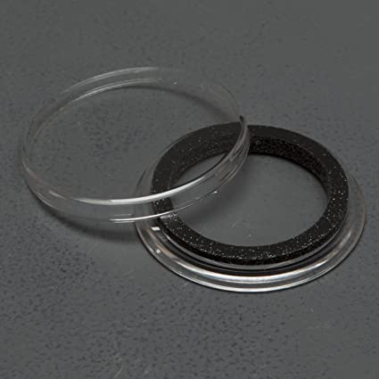 100 AIRTITE COIN HOLDER CAPSULE BLACK RING 31 MM