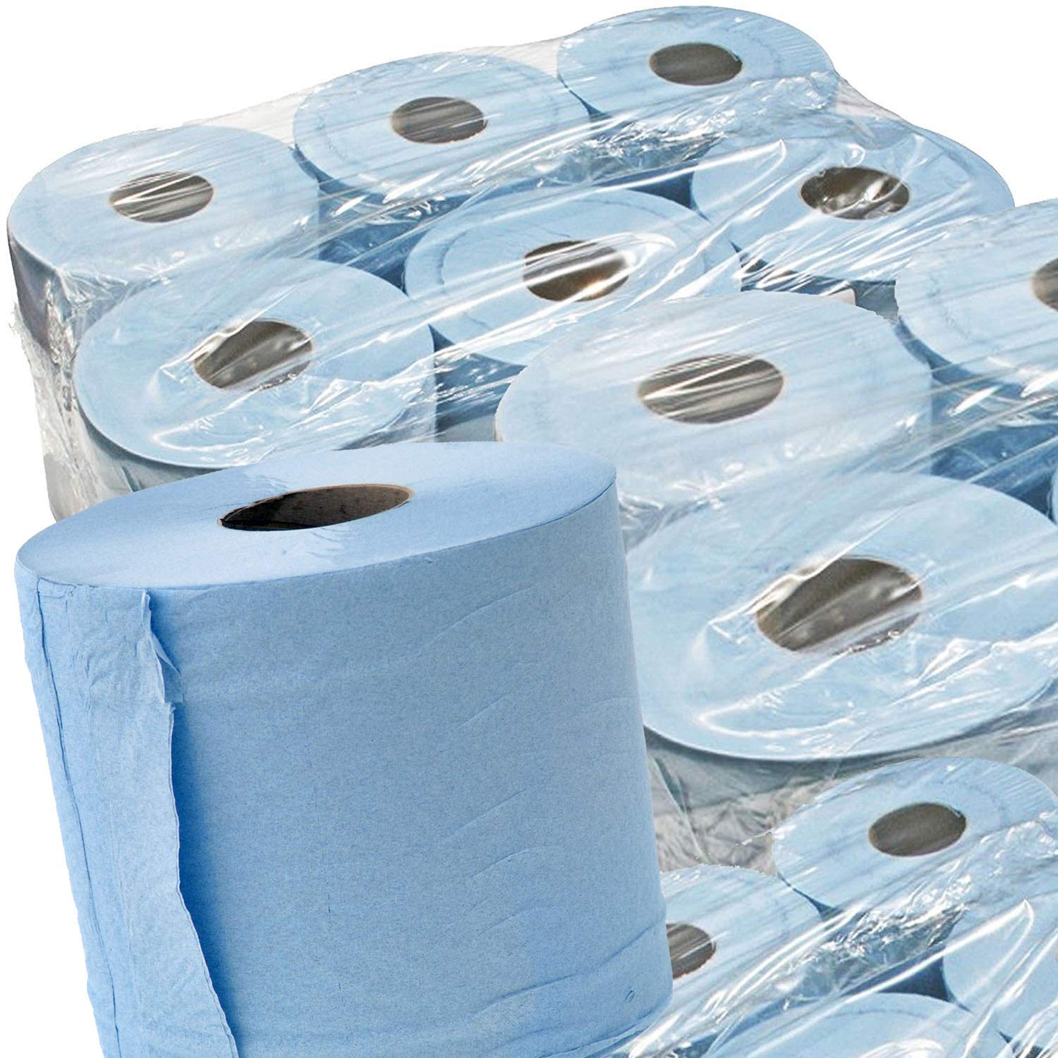 STAR SUPPLIES BLUE ROLL 2Ply centrefeed rolls, paper hand towels, absorbant, embossed