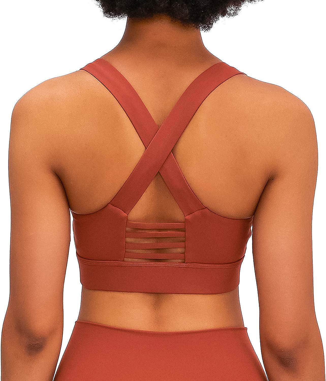 Womens Sports Bra Crop Top Gym Activewear Yoga Training Fitness Energy Seamless