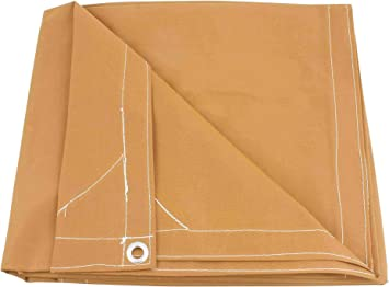 Amazon Com Mytee Products 10 X 16 Tan Canvas Tarp 12oz Heavy Duty Water Resistant Automotive
