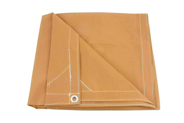 8 x 10 Tan Canvas Tarp 12oz Heavy Duty Water Resistant