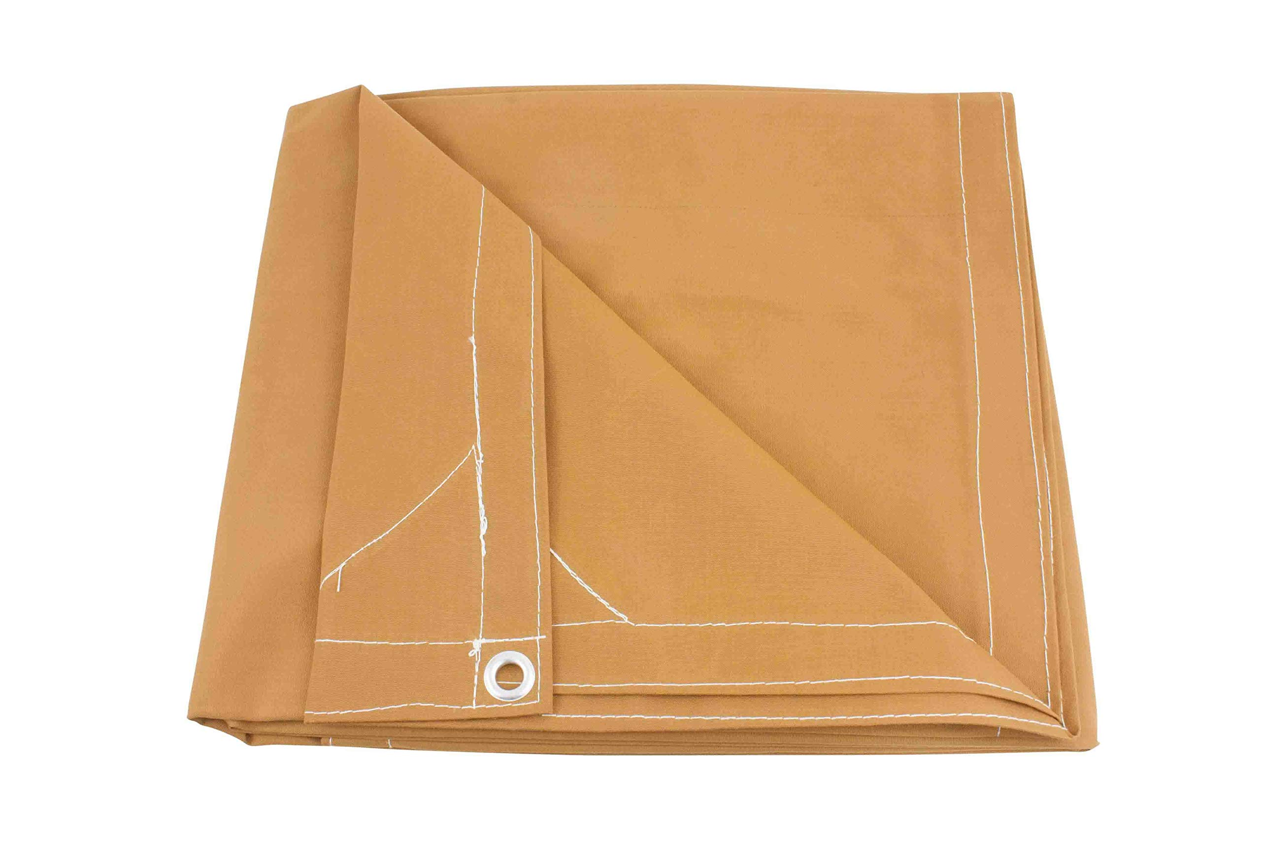 20' x 40' Tan Canvas Tarp 12oz Heavy Duty Water Resistant by Mytee (Image #1)