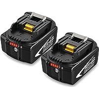 2 X BL1850B Topbatt 18V 5.0Ah Vervangende voor Batterij BL1815 BL1835 BL1845 LXT-400 BL1850 BL1850B BL1830 BL1840…