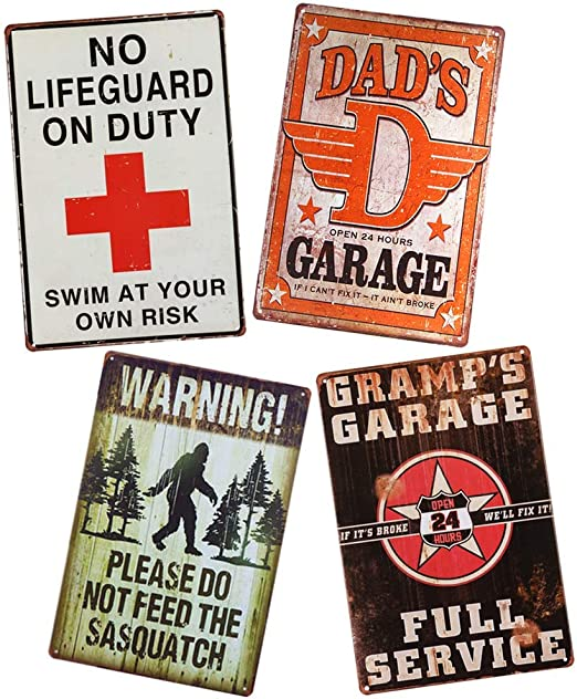 Dad/'s Garage We Can Fix Everything Retro Tin Signs Metal Plate Wall Decor Poster