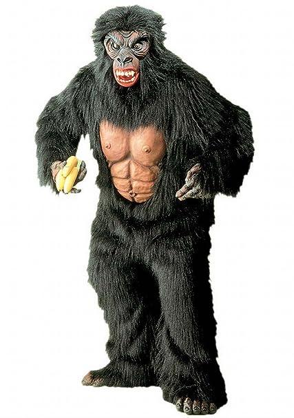 Mens King Kong Plush Costume for Animal Jungle Farm Fancy Dress