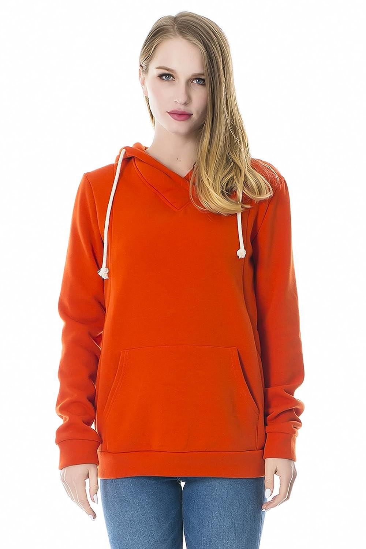 91f52c1e9242f Smallshow Womens Fleece Maternity Nursing Sweatshirt Hoodie with Kangaroo  Pocket Tops & Tees Women