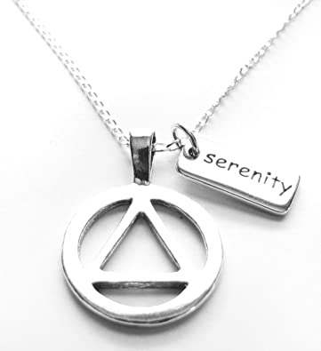 Recovery AA Necklace Alcoholics Anonymous Gifts for Men Women mDG2Oa