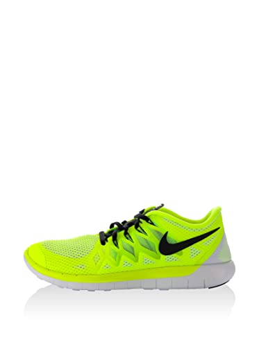 official photos 05ada c2abf Nike 642198 702, Chaussures Femme, Multicolore-Jaune Fluo Noir Blanc (