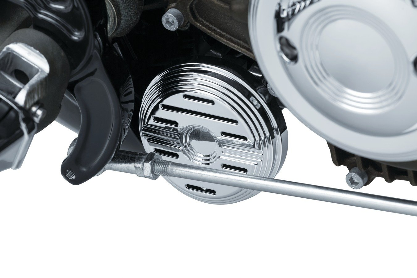 Kuryakyn Chrome Horn Cover and Relocation Kit for Indian 2015-2018 Scout Models