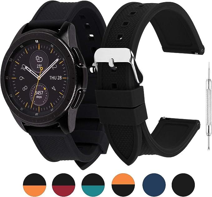 Amazon.com: Fullmosa - Correa de silicona para reloj de ...