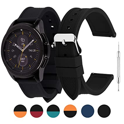 6 Colors Silicone Watch Band 18mm Compatible Huawei Watch Band,Compatible Asus Zenwatch 2/LG Watch Style/Withings Activité/Steel HR 36mm Bracelet for ...
