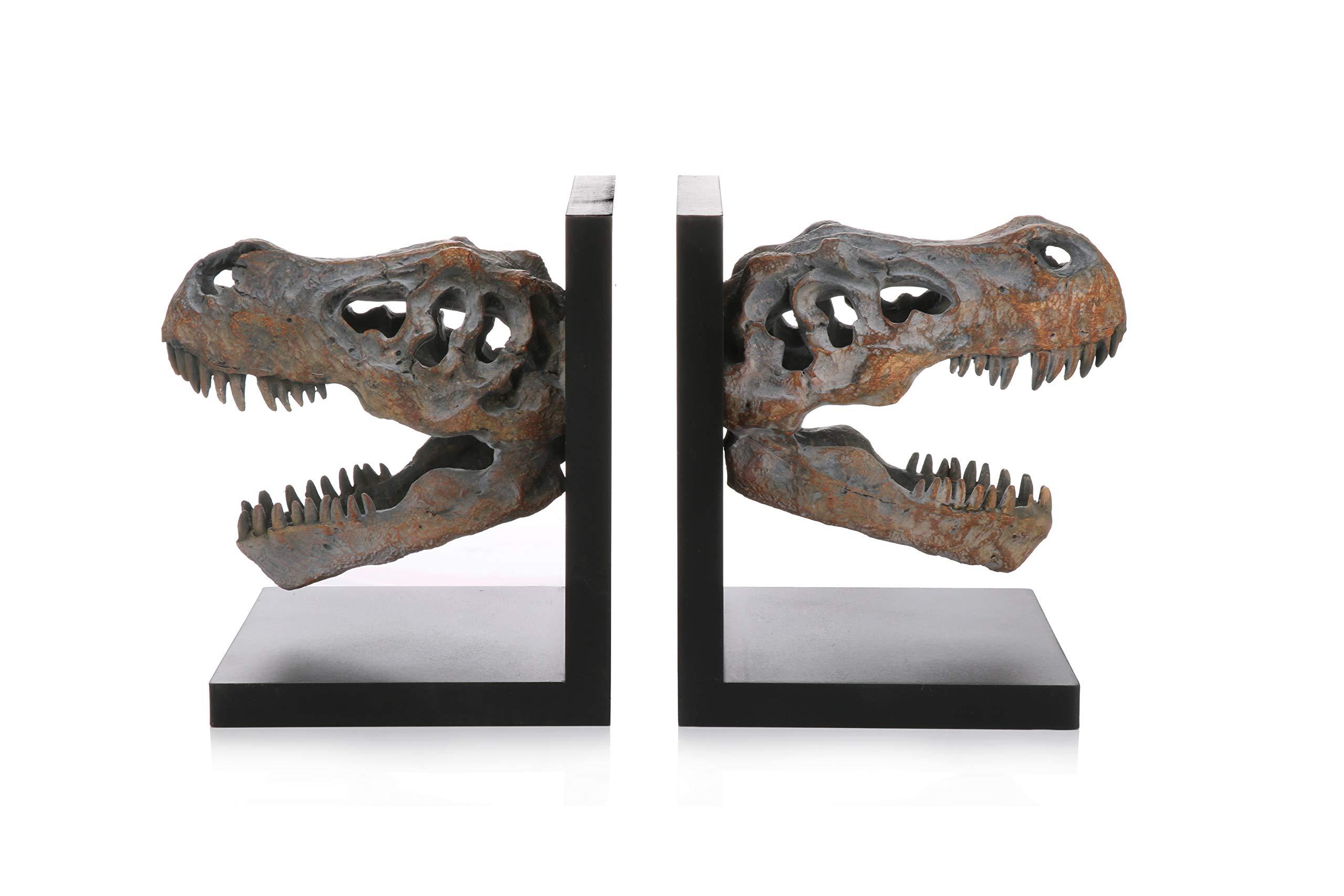 Pristine Dinosaur Fossil Book Ends
