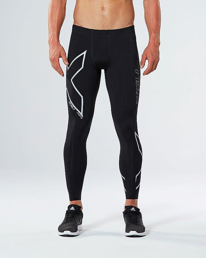 413c4da7c0928 Amazon.com : 2XU Men's Hyoptik Thermal Compression Tights, Black/Silver  Reflective, X-Large : Sports & Outdoors