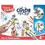 MAPED Creativ Colour and Play Puzzle Mix and Match, (8907001)