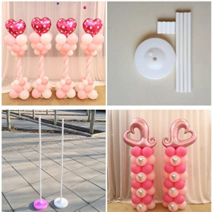 Amazon.com: 160cm Balloon column base/stick/plastic poles Balloon ...