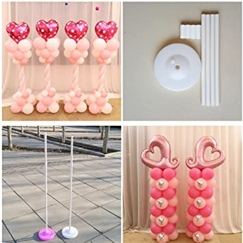 Amazon 160cm balloon column base stick plastic poles balloon 160cm balloon column base stick plastic poles balloon arch wedding decorations event party supplies junglespirit Image collections