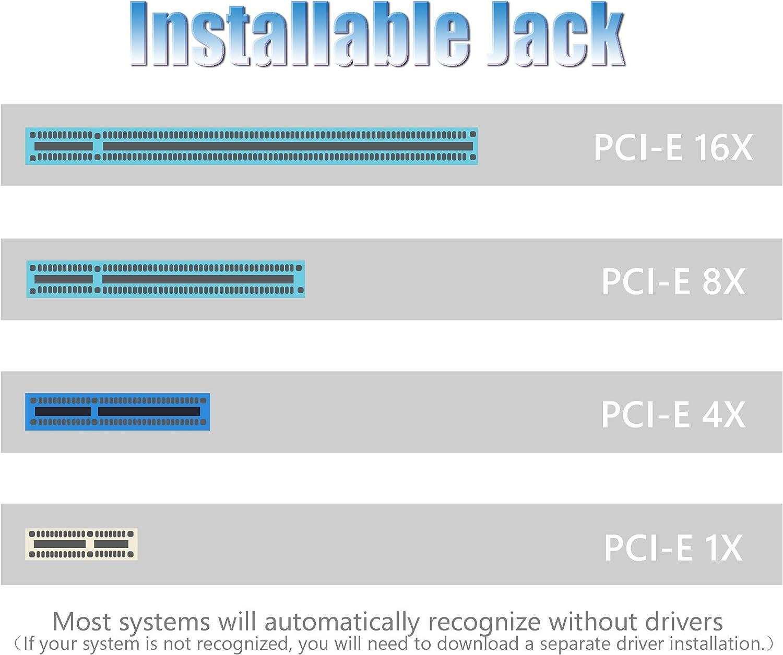 CERRXIAN I211AT PCI-E Gigabit Ethernet Karte PCI Express X1 Netzwerk Controller Karte 10//100//1000Mbps RJ45 LAN Adapter Konverter f/ür Desktop PC