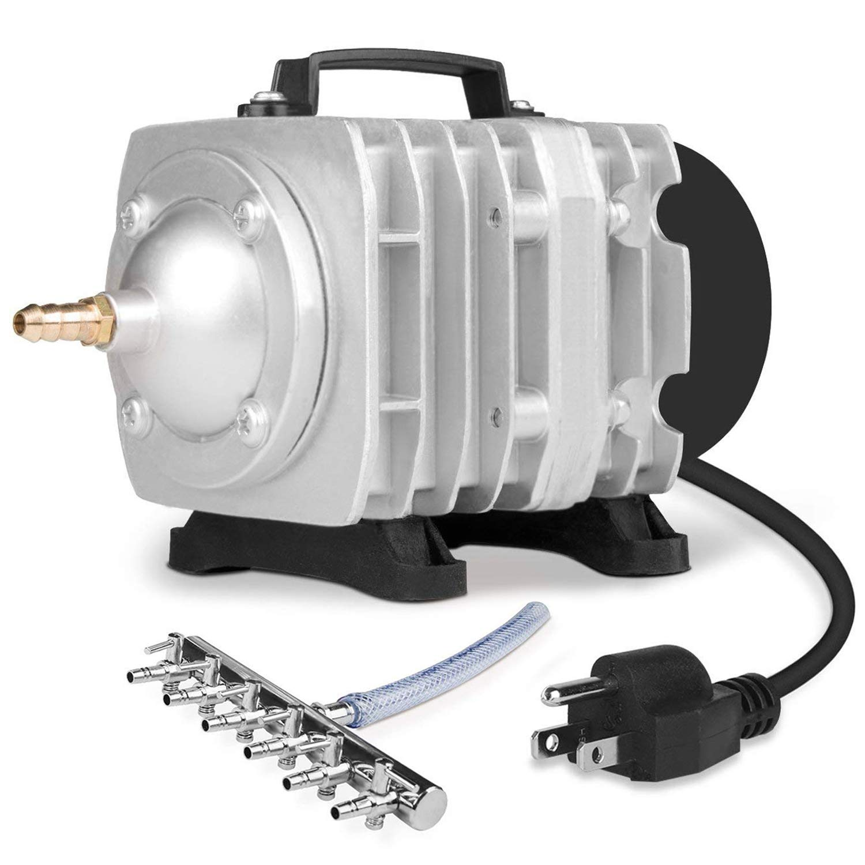VIVOSUN Air Pump 950 GPH 32W 60L/min 6 Outlet Commercial Air Pump for Aquarium and Hydroponic Systems (32 W)