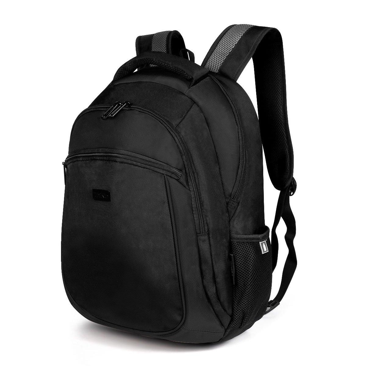 ThiKin Black Shockproof Laptop Backpack Travel Knapsack Student School Backpack