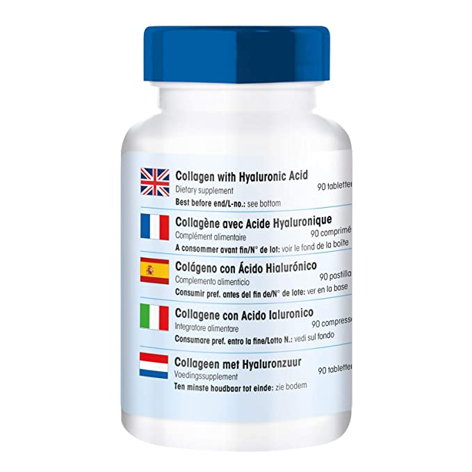 90 comprimidos vegetarianas de colágeno con ácido hialurónico y vitamina C - Sustancia pura: Amazon.es: Salud y cuidado personal