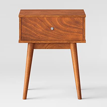be6bd02754e Image Unavailable. Image not available for. Color  24 quot  Amherst Mid  Century Modern Side Table Brown