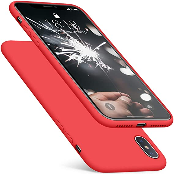 super popular 43829 3ca35 DTTO Case for iPhone Xs Max, [Romance Series] Silicone Case with Hybrid  Protection for Apple iPhone Xs Max 6.5 Inch (2018 Released) - Apple Red