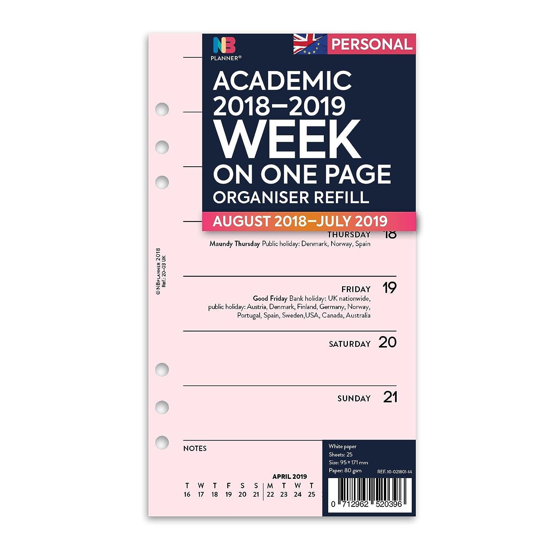 Recambio hojas de agenda NBplanner® (toda la semana en una ...