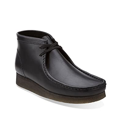ff3b082e4a8b0 CLARKS Wallabee Men s Leather Boots Black Leather Cuir Noir 26103666 (7.5  D(M