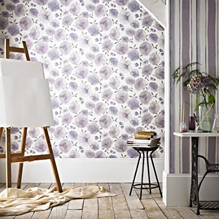 Graham Brown   Superfresco Easy Poppies Wallpaper Lavender