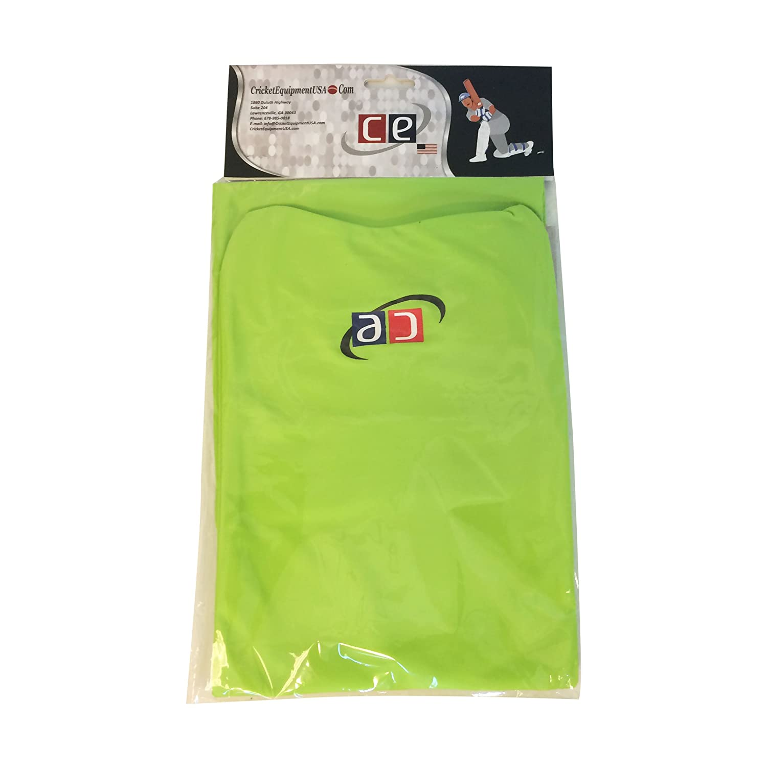 Lime Green, Extra Large CE Colored Cricket Batting Pads Covers Leg Guards Clads by Cricket Equipment USA